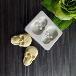 3D Head Skull Silicone Decoration