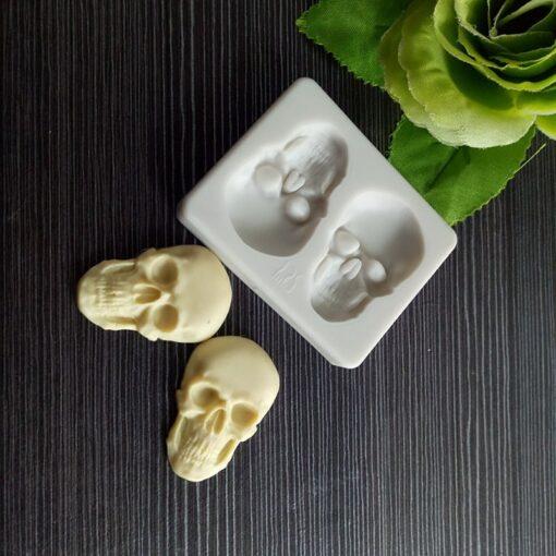 3D Head Skull Silicone Decoration