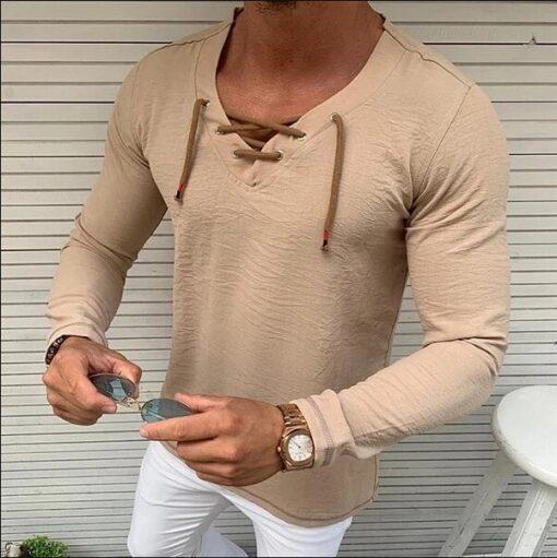 Khaki-Fashion-Shirt-Men-s-Slim-Fit-V-Neck-Tops-Vintage-Baggy-Autumn-Long-Sleeve-Muscle-Tee-1