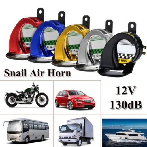 Silver-Universal-Horn-Speeker-12V-130DB-Waterproof-Super-Loud-Car-Motorcycle-Motorbike-Truck-Boat-Electric-Loud-Snail