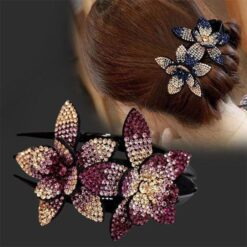 rhinestone hair barrette clip